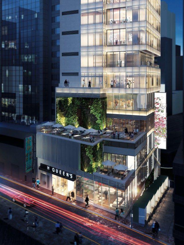 홍콩 센트럴에 위치한 갤러리 빌딩 에이치 퀸스 외부 전경.데이비드 즈워너 갤러리는 5~6층에 위치해 있다.