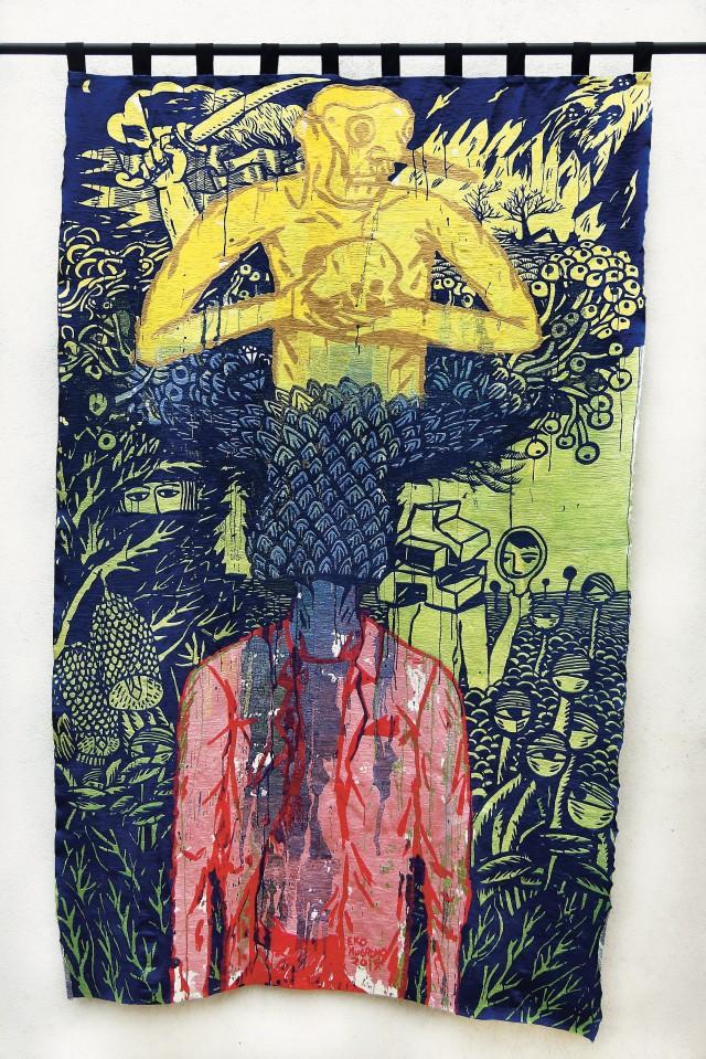 Eko Nugroho, 'The Puppet without Shadow', 2015, Manual embroidery, 249×159cm ⓒ Eko Nugroho and ARARIO GALLERY