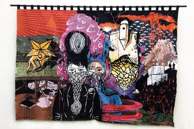 Eko Nugroho, 'Illusion of Hope', 2016, Manual embroidery, 314.5×220cm, ⓒ Eko Nugroho and ARARIO GALLERY