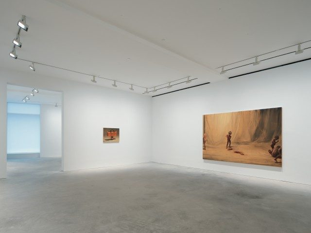 Installation View, , David Zwirner, Hong Kong, 2018 © Michaël Borremans Courtesy David Zwirner, New York/London/Hong Kong