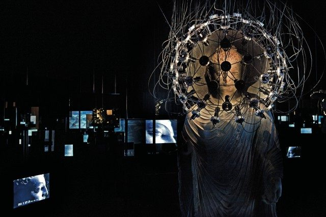 'Bodhi Obfuscatus (Space-Baby)', 2005, Mixed media dimensions variable commissioned by the Asia Society Museum, New York, Asia Society Hong Kong 전시 전경. Photo: John Nye