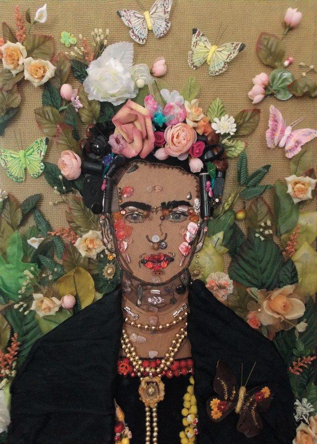 콜라주 작가 나디아 루온고가 2013년에 작업한 프리다 칼로의 초상.