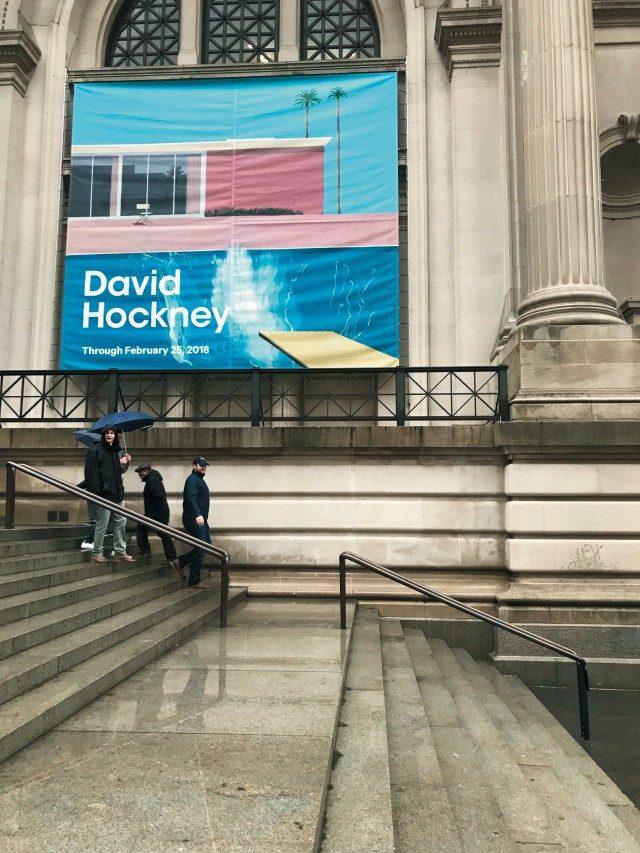 @Metropolitan Museum화가 데이비드 호크니의 80세 생일을 기념해 열린 특별전.