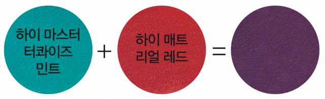 Jung Saem Mool 하이 컬러 립스틱 하이 마스터 터콰이즈 민트 색을 톤다운시켜 입술만 동동 떠 보이는 컬러를 교정한다. 최소한의 원료를 사용해 색을 조합해도 탁해지지 않는다. 2만7천원.