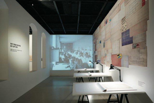 김중업건축박물관 전시장 전경.©스튜디오 매드