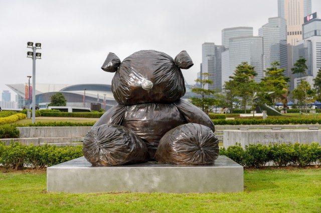 하버 아트 스컬프처 파크, 김홍석의 'Bearlike Construction'(2012) 설치 전경.Courtesy of the artist and Kukje Gallery Image provided by Hong Kong Arts Centre