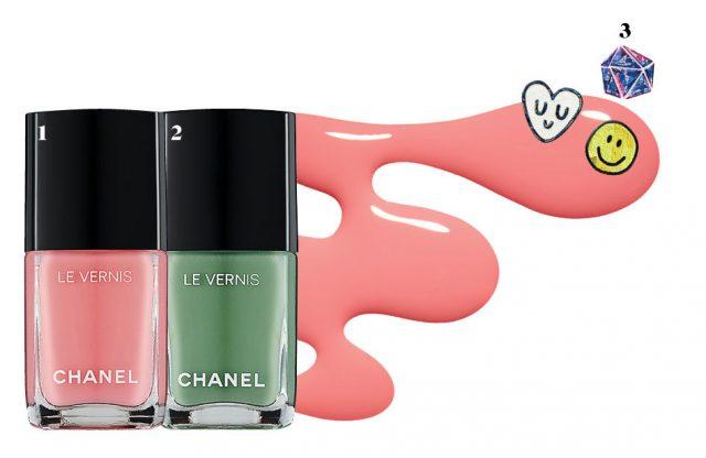 1, 2 Chanel 르 베르니, 610 알로, 608 레제레떼 3만4천원. 3 The Face Shop 트렌디 네일즈 아트스티커, 18 팝스타 룩 4천5백원.