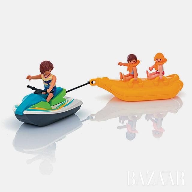 제트스키와 바나나 보트 모형 장난감은 3만5천원으로 Playmobil