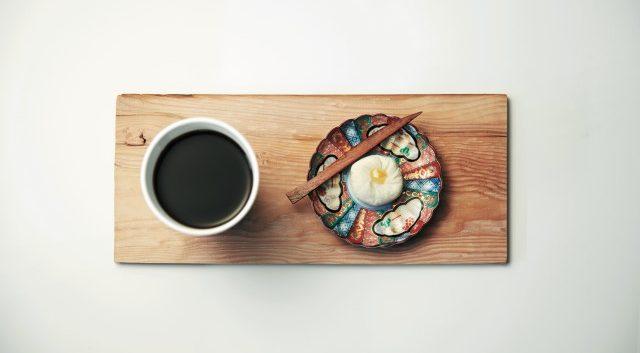 우마미 커피와 유자 와케이크.