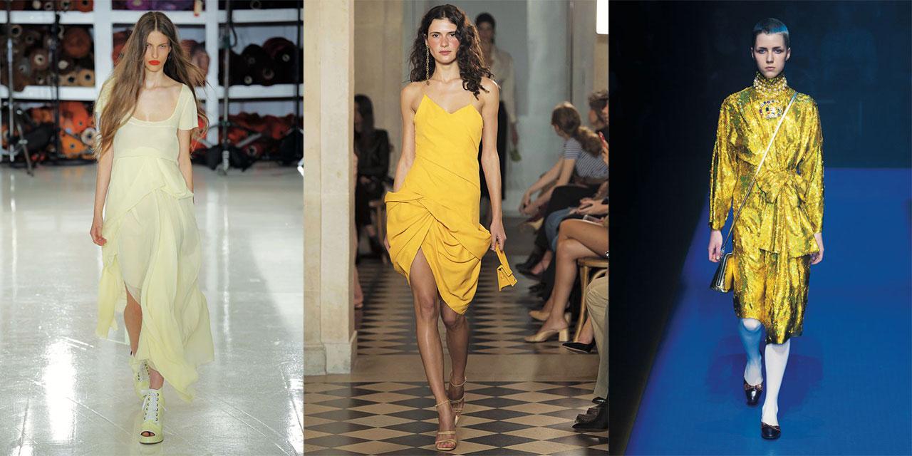서머 드레스에 신선한 에너지를 주입하는 옐로 컬러의 마법을 만끽하라.