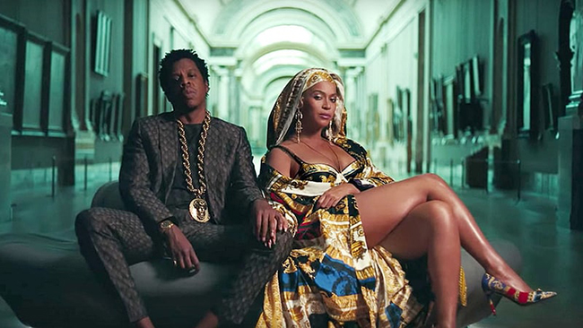 In Beyoncé and Jay-Z's Apeshit, M/V