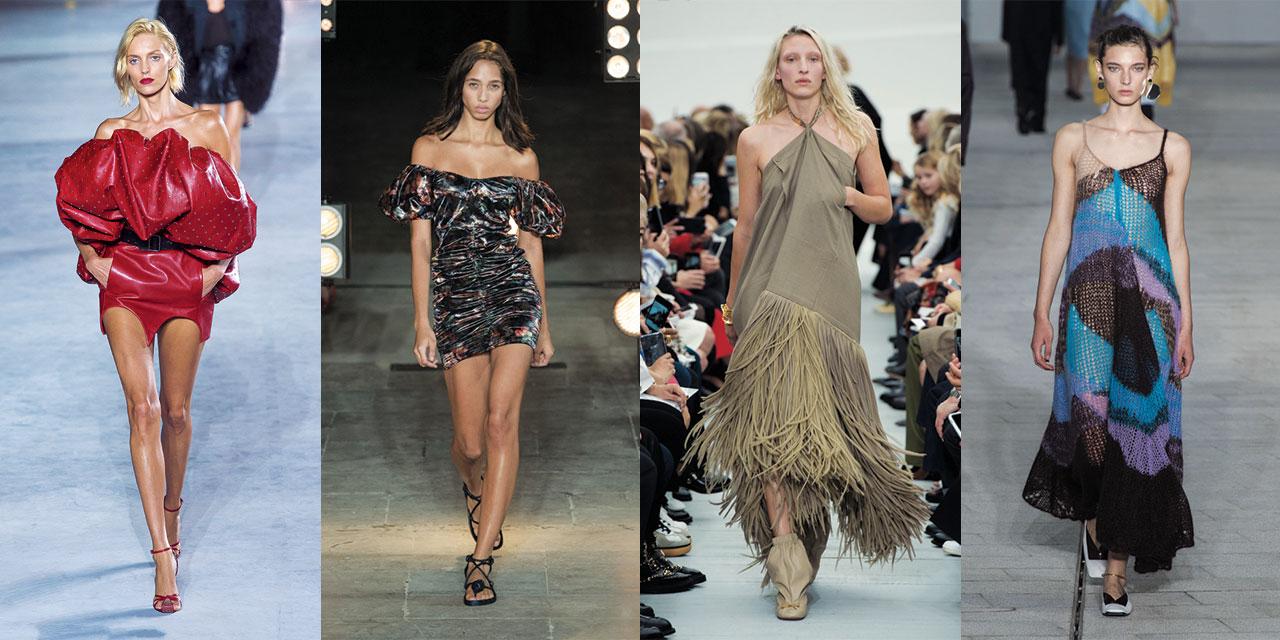 1980년대의 화려함 VS 원초적인 시크함. 올여름, 서머 드레스를 선택함에 있어 당신은 두 가지 갈림길에 놓이게 될 것이다.