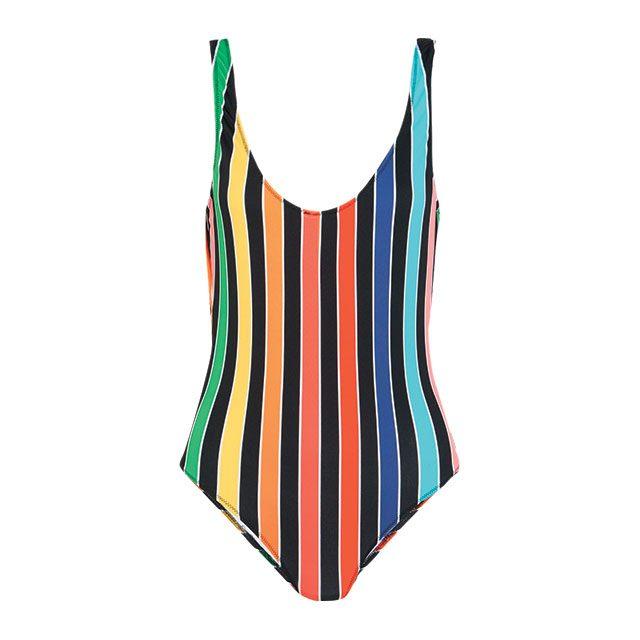 볼드한 스트라이프 패턴 수영복은 39만원대로 Caroline Constas