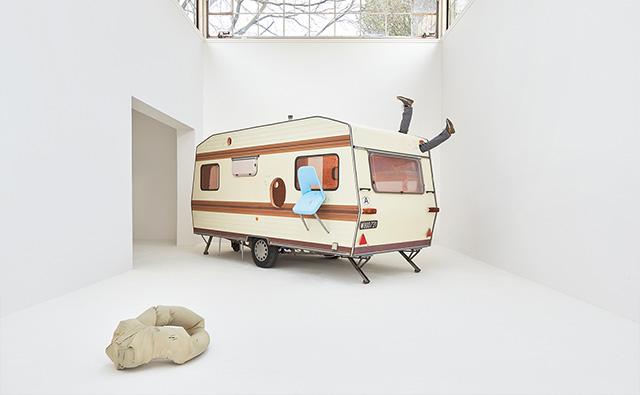 Ship of Fools, 2017, Mixed media, caravan, furniture pieces, 245x206x492cm, Photo: Eva Würdinger