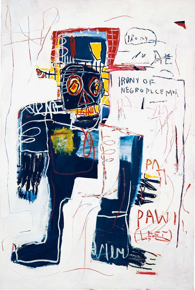 장-미셸 바스키아, , 1981, Acrylic, oilstick and spray paint on wood, 183 x 122 cm, AMA Collection, © Estate of Jean-Michel Basquiat. Licensed by Artestar, New York