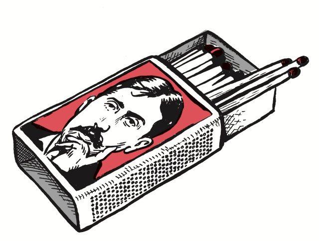 프랑수아 아르마네의 책'무인도의 이상적 도서관'에 수록된 스테판 트라피에의 삽화.