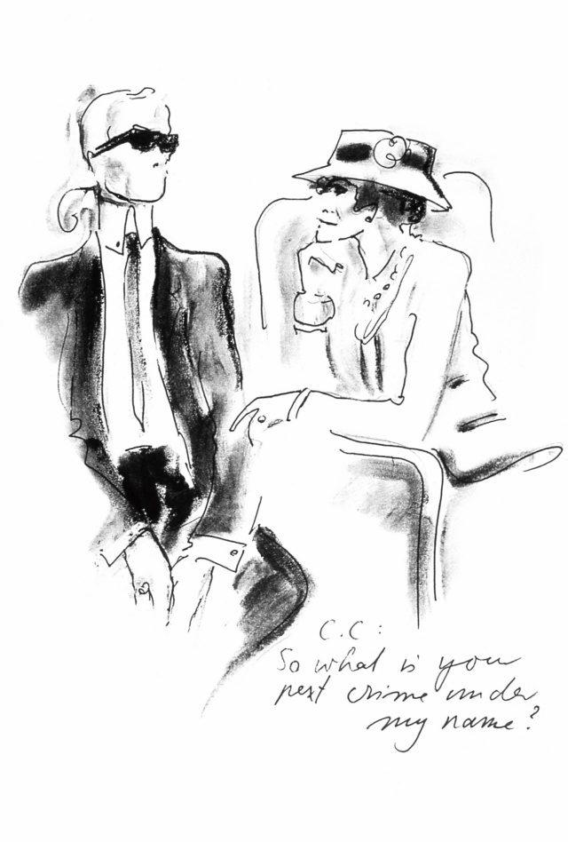 칼 라거펠트가 스케치한 샤넬 여사.
