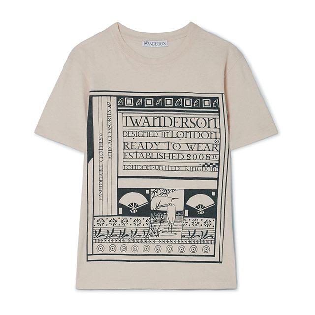 크리스토퍼 드레서의 동양적인 일러스트가 담긴 티셔츠.