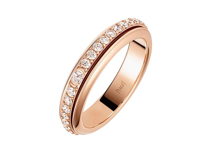 핑크 골드와 다이아몬드 포제션 링은 515만원으로 Piaget