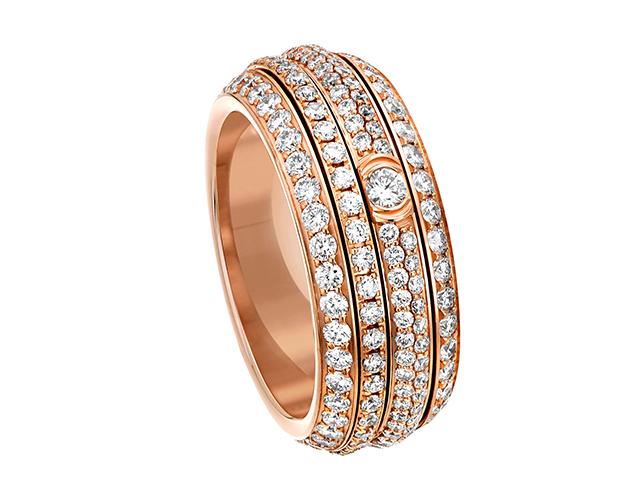 핑크 골드와 다이아몬드 포제션 링은 2천만원으로 Piaget