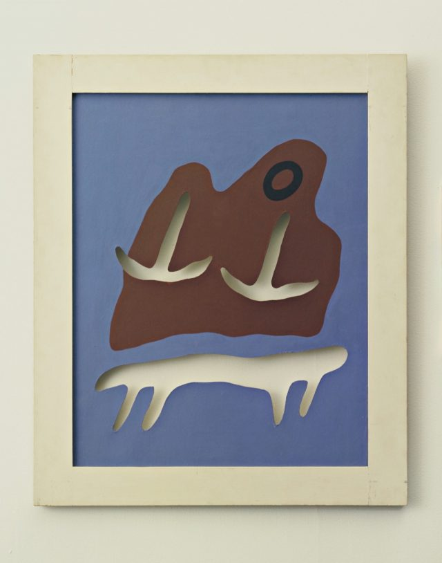 'Mountain, Navel, Anchors, Table', 1925, 75.2×59.7cm, Gouache on board with cutouts.