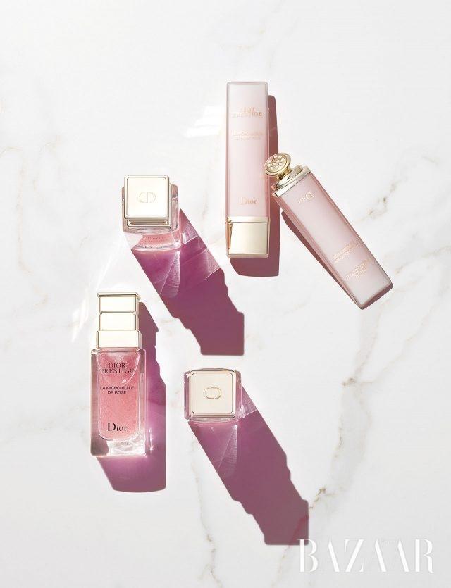 (위) Dior 프레스티지르 마이크로-세럼 드 로즈 이으 23만5천원대 / (아래) Dior 프레스티지 라 마이크로 륄 드 로즈 29만5천원대
