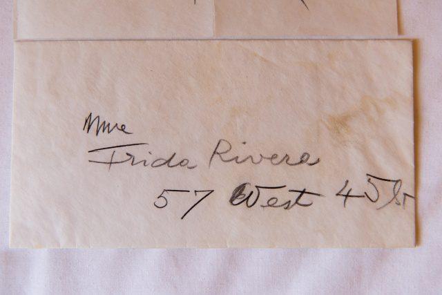 프리다 리베라 부인 앞으로 온 편지.