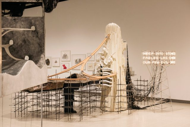 'Mon grand recit: Weep into stones...', 2005. Installation view of Lee Bul: Crashing at the Hayward Gallery.