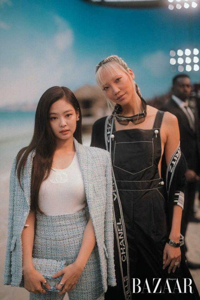 한국 앰버서더로 참석한 제니와 수주.