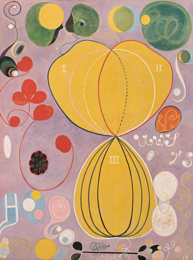 'Group IV, The Ten Largest, No. 7, Adulthood', 1907 from 'untitled' series, 315×235cm, Tempera on paper mounted on canvas.