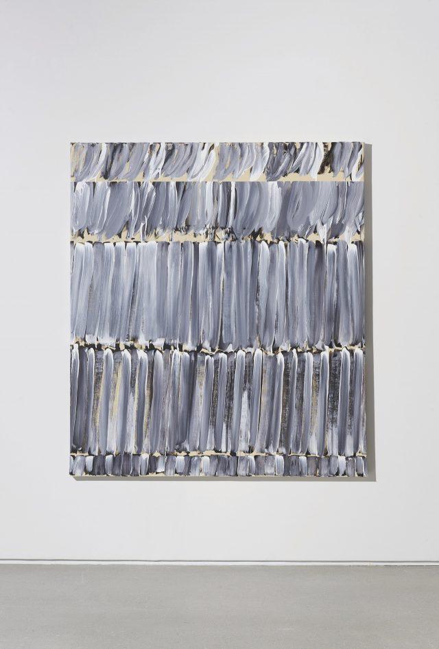 이건용, 'Untitled', 2018, 151×171cm, 캔버스 위에 연필과 아크릴.