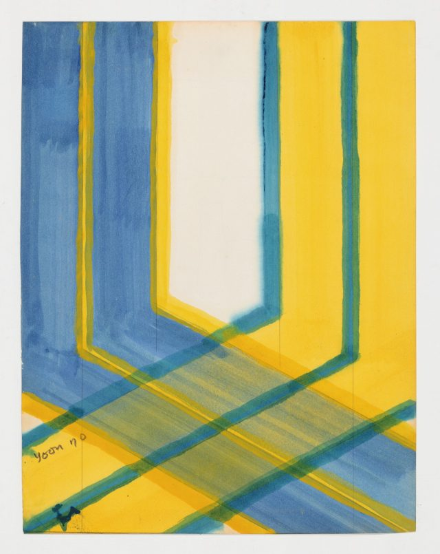 드로잉, 1970, 32×25cm, 종이에 유채.