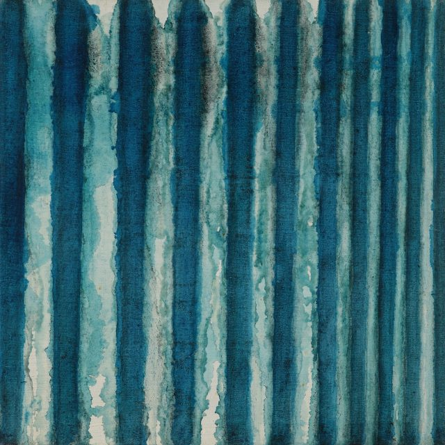 '청색', 1972, 70×69.7cm, 캔버스에 유채.