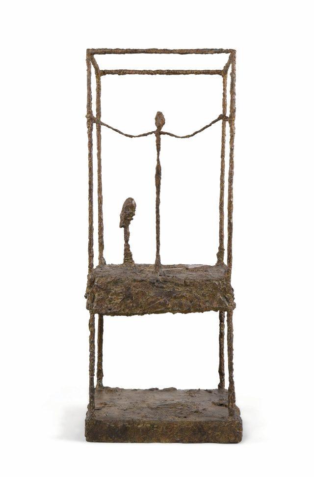 'La Cage', 1949-1950, 43.20×11.50×10.50cm, 브론즈 설치물.