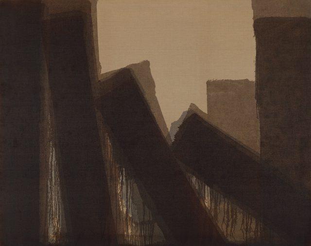 '다색', 1980, 181.6×228.3cm, 마포에 유채, 국립현대미술관 소장.