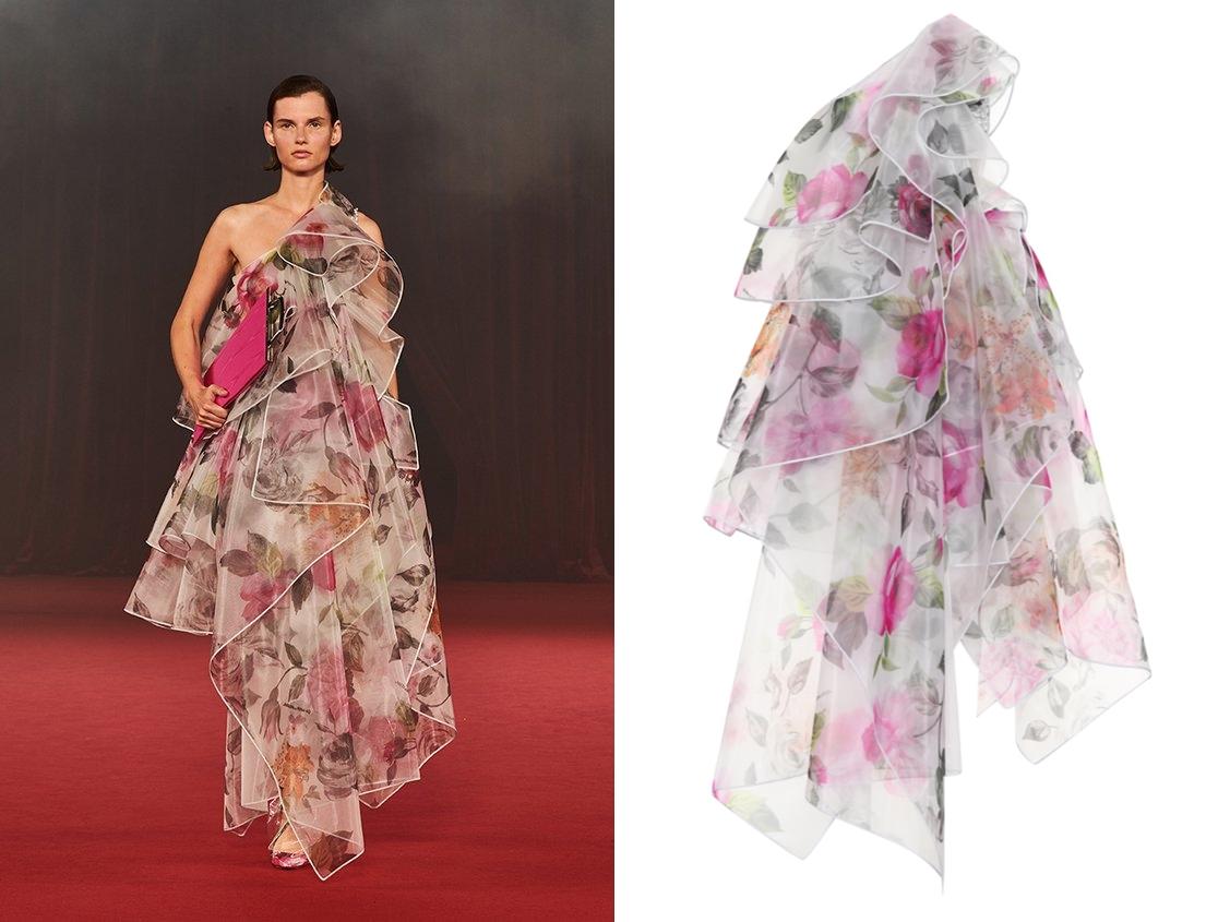 OFF-WHITE 플라워 패턴 드레스