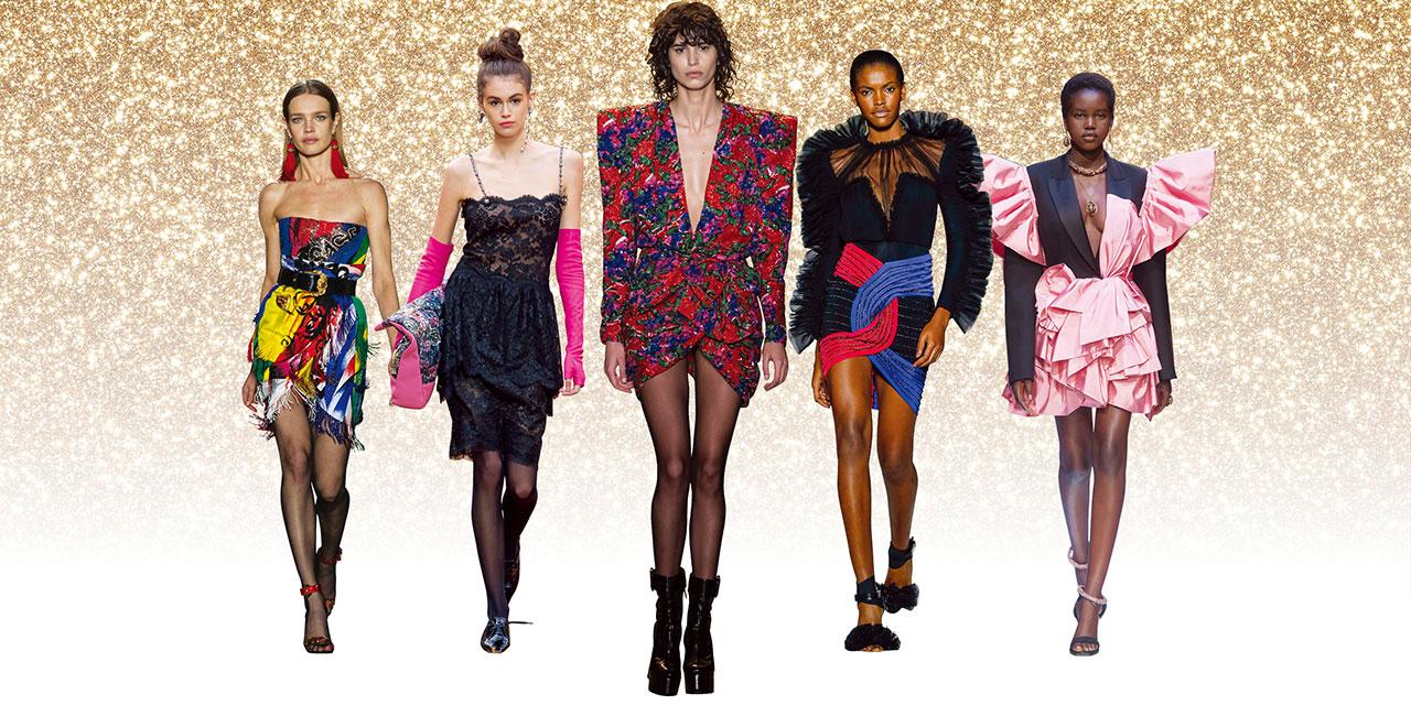 이번 연말 파티에서 화려한 디바를 꿈꾼다면 1980년대 스타일의 미니 드레스가 해답이 되어줄 것.