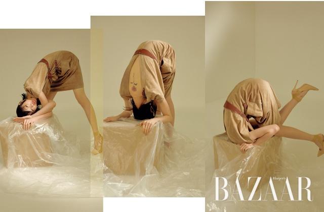 드레스는 7백57만원대 Bottega Veneta, 귀고리는 Givenchy, 슈즈는 97만원 Gianvito Rossi.