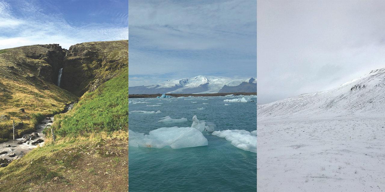 요정이 만들어놓은 듯 경이로운 자연을 품은 얼음의 땅 아이슬란드. 플라이스의 디자이너 이승준이 빙하와 고래를 보기 위해 아이슬란드로 떠났다 .