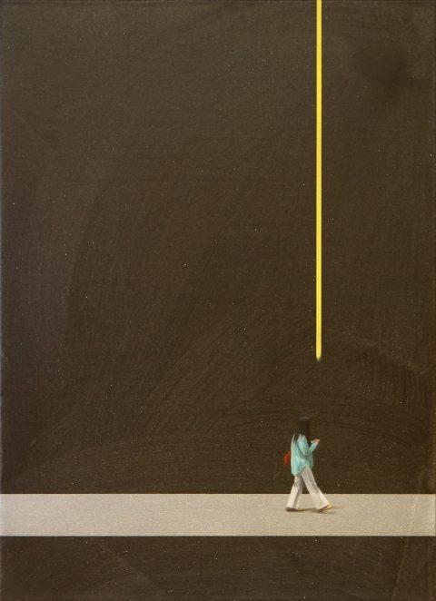 Watching yellow Line