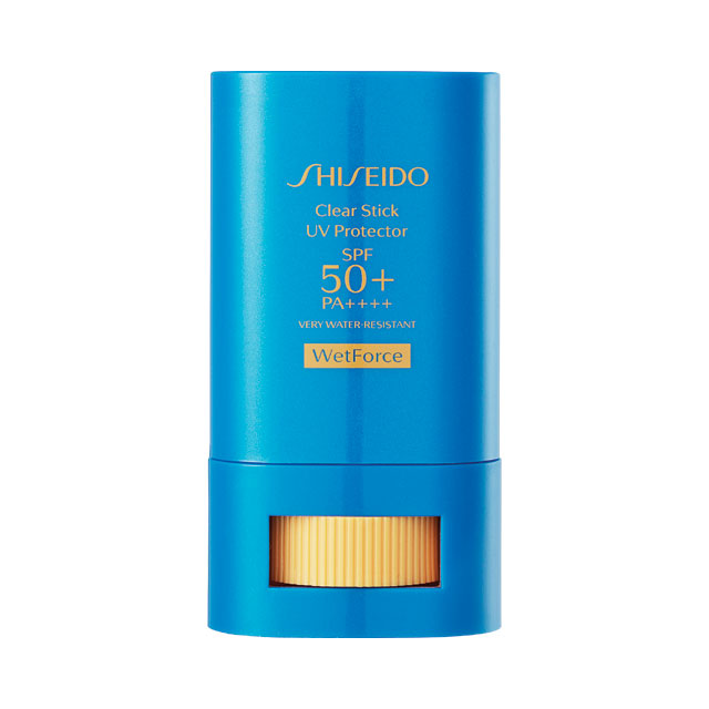 Shiseido 클리어 스틱 UV 프로텍터 미세먼지가 달라붙는 것을 막아주는 스틱 타입 자외선차단제. 2만9천원대.