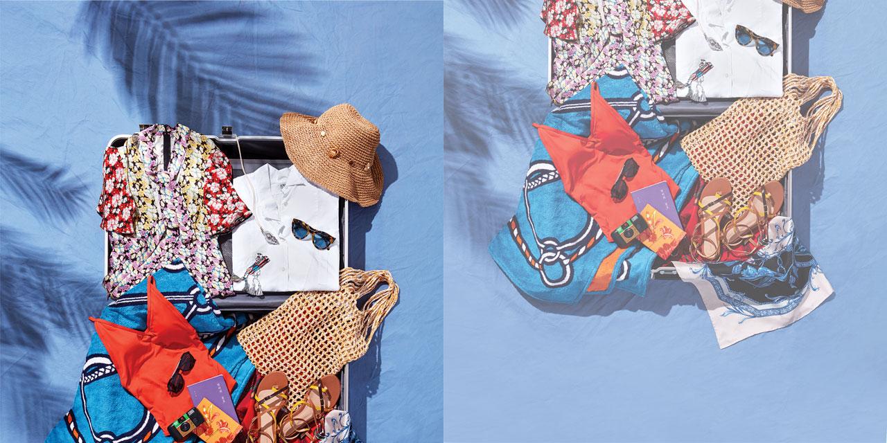 천혜의 자연과 역사적인 유적으로 가득한 이탈리아의 지상낙원, 카프리 섬으로 휴가를 떠난 모델 김성희의 패킹 리스트.