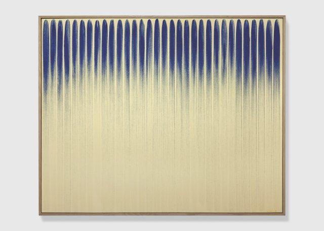 이우환, 'From Line(No.800152)', 1980, Oil and mineral pigment on canvas, 129.5×162.2cm.