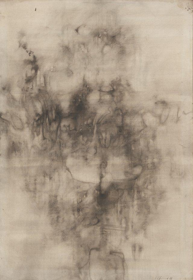 정창섭, 'Work G77', 1966, Mixed media on canvas, 162.5×112.3cm.