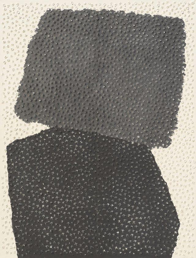 권영우, 'Untitled', 1987, Gouache, Chinese Ink on Korean paper, 224×170cm.