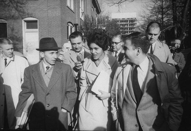조지아 대학교에서의 샬레인 헌터-고,1961년. (사진/ Bettmann/ Getty Images)