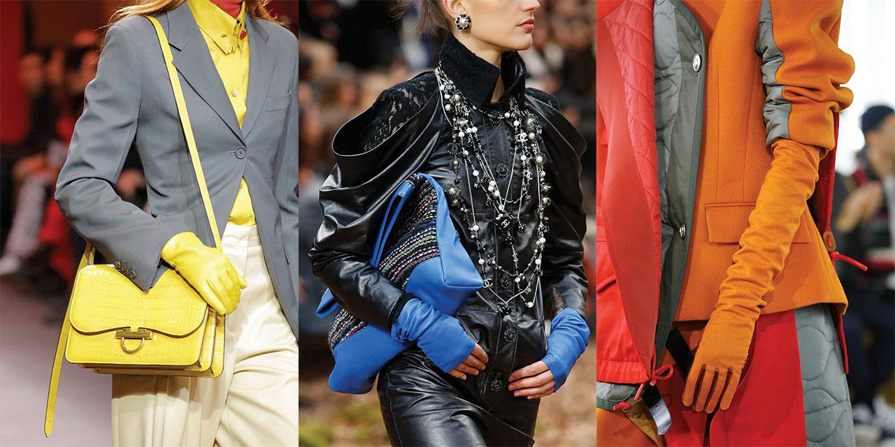 칙칙하고 두꺼운 겨울 아우터에 경쾌함을 불어넣어줄 컬러풀한 장갑을 눈여겨보라.