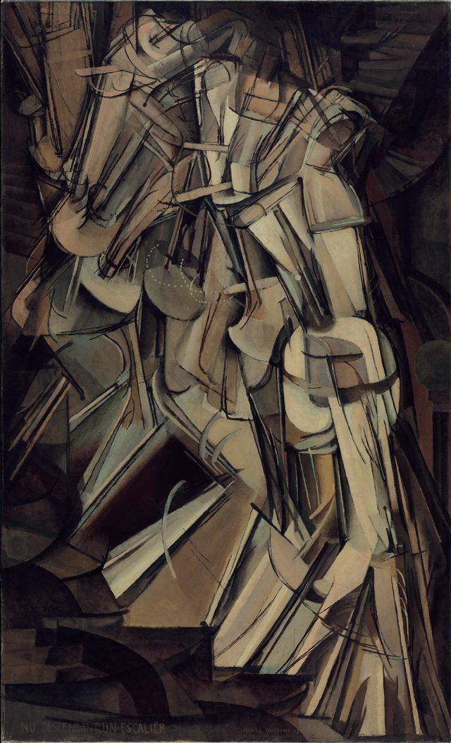 '계단을 내려오는 누드(No. 2)', 1912, 147×89.2cm, 캔버스 유채, Philadelphia Museum of Art: The Louise and Walter Arensberg Collection, 1950 © Association Marcel Duchamp / ADAGP, Paris – SACK, Seoul, 2018.