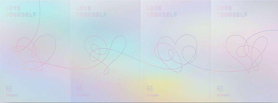 '진정한 사랑은 자기 자신'을 의미하는 하트 모양을 담은 LOVE YOURSELF 結 'Answer'