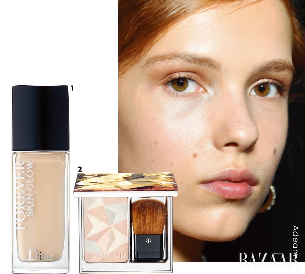 1 Dior 디올 포에버 스킨 글로우 24H 웨어 스킨-케어링 파운데이션 SPF35/ PA++ 7만7천원대.2 Clé De Peau Beauté 로쎄르 디끌라, #18 13만원대.